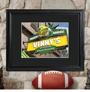 Personalized NFL Bar and Pub Print with Wood Frame