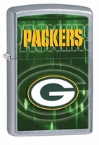 Personalized NFL Brushed Chrome Zippo Lighter