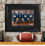 Personalized NFL Locker Room Print with Matted Frame