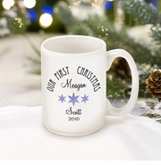 Personalized Coffee Mug - Our First Christmas