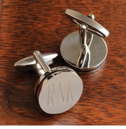 Personalized Cufflinks - Pin Stripe