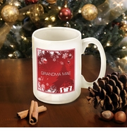Personalized Red Holiday Suprises Coffee Mug