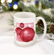Personalized Red Ornament Coffee Mug