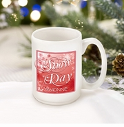 Personalized Red Snow Day Coffee Mug