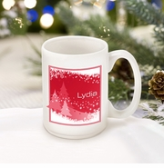 Personalized Red Snowscapes Coffee Mug