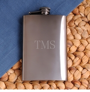 Personalized Flask - Rich Gunmetal