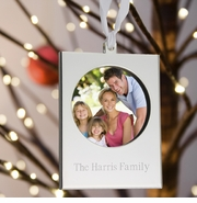 Personalized Ornament - Silver Frame