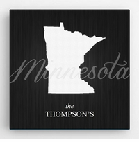 Personalized State Canvas Print