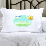 Personalized Pillow Case - Sunshine and Butterflies First Communion