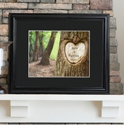 Personalized Tree Carving Print with Wood Frame