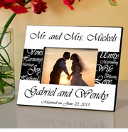 Personalized Wedding Picture Frames and Wedding Party Frames