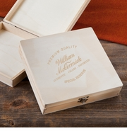 Personalized Wood Cigar Box