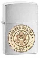 Personalized Zippo Army Emblem Lighter
