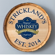 Personalized Wood Whiskey Barrel Sign