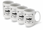Personalized Cabin Coffee Mugs -Set of 4