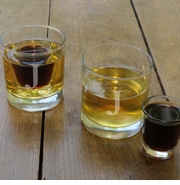 Personalized Lowball Glass set with shot glass