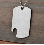 Stainless Steel Dog Tag Bottle Opener