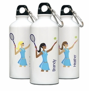 Personalized Water Bottle - Go-Girl Tennis