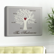 Personalized Family Tree Canvas Print - Contemporary
