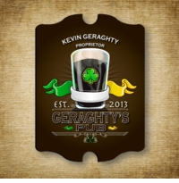 Personalized Vintage Irish Pub and Bar Sign