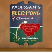 Vintage Personalized Beer Pong Champion Bar and Pub Sign