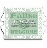 Vintage Personalized Irish Linen Family Sign