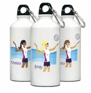 Personalized Water Bottle - Go-Girl Volleyball