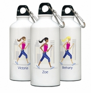 Personalized Water Bottle - Go-Girl Walk/Run