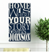 Personalized Canvas Print - Where Our Story Begins