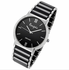 Luxe Series Black Ceramic Steel Watch by Rougois