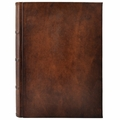 Antique Leather Italian Library Journal - Large