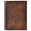 Antique Leather Italian Library Journal - Medium