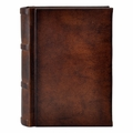 Antique Leather Italian Library Journal - Small