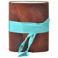 Aquamarine One of a Kind Leather Journal
