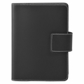 Bella Refillable Recycled Leather Journal - Black