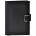 Bella Refillable Recycled Leather Journal - Large Black