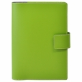 Bella Refillable Recycled Leather Journal - Large Green