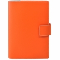 Bella Refillable Recycled Leather Journal - Large Orange