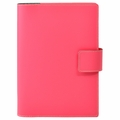 Bella Refillable Recycled Leather Journal - Large Pink