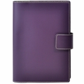 Bella Refillable Recycled Leather Journal - Large Purple