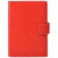 Bella Refillable Recycled Leather Journal - Large Red