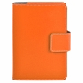 Bella Refillable Recycled Leather Journal - Orange