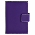Bella Refillable Recycled Leather Journal - Purple