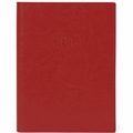 Cavallini 2014 Leather Daily Planner Red