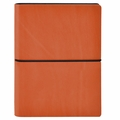 Ciak Leather Journals with Multicolored Pages - Orange