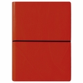 Ciak Leather Journals with Multicolored Pages - Red