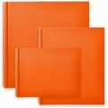 Classic European Bookcloth Photo Albums Orange