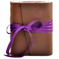 Clematis Leather Journal with Artist Papers