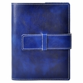 Colori Italian Leather Refillable Journal Blue