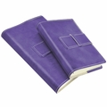 Colori Italian Leather Refillable Journal Dark Purple